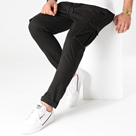 Brave Soul - Pantalon Cargo Vermont Noir