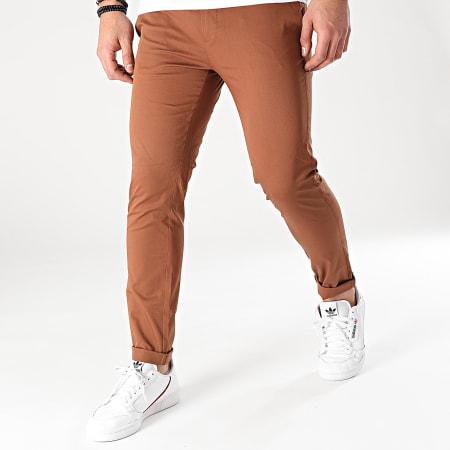 Mackten - Pantalon Chino MKP135 Marron
