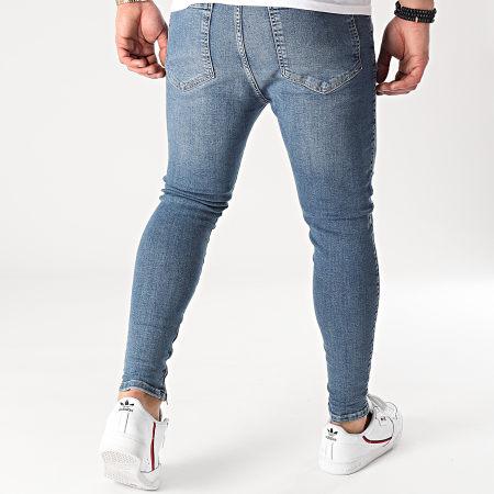 SikSilk - Jean Skinny Drop Crotch Denim 19355 Bleu Denim