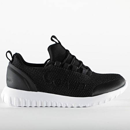 Calvin Klein - Baskets Femme Runner Sneaker Lace Up Mesh 0165 Black