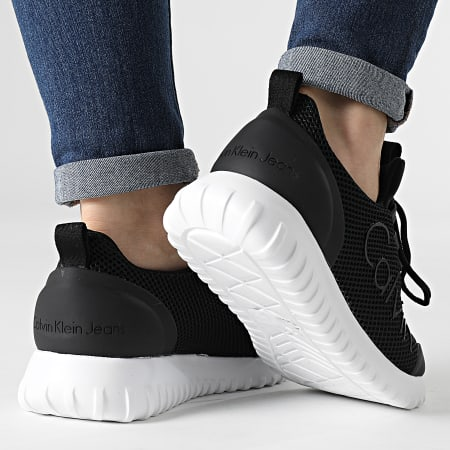 Calvin Klein - Baskets Femme Runner Sneaker Lace Up Mesh 0165 Black