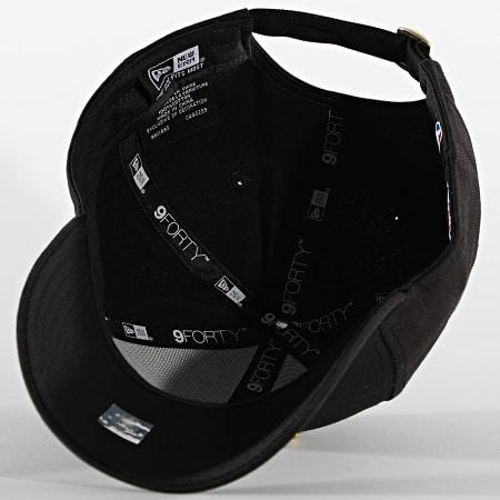 New Era - Casquette 9Forty Metallic Logo 60112676 Chicago Bulls Noir Doré