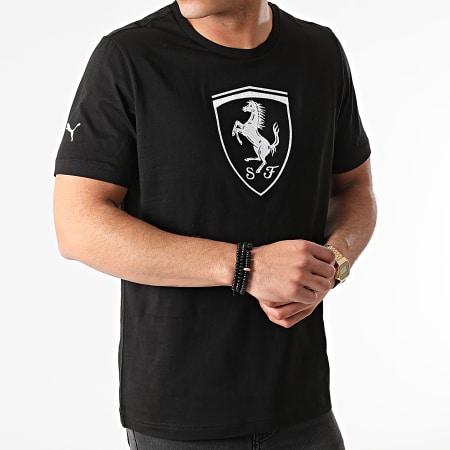 Puma - Tee Shirt Ferrari Race Big Shield 599849 Noir