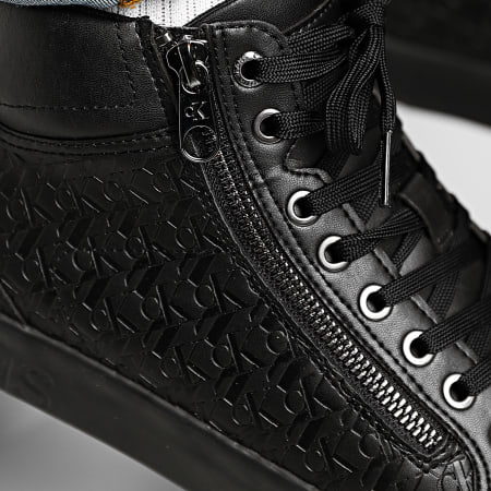 Calvin Klein - Baskets Montantes Vulcanized Mid Lace Up Zip 0079 Black