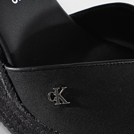 Calvin Klein - Sandales Femme Wedge 0121 Black