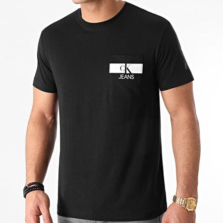 Calvin Klein Jeans - Tee Shirt Poche Horizontal CK 7671 Noir