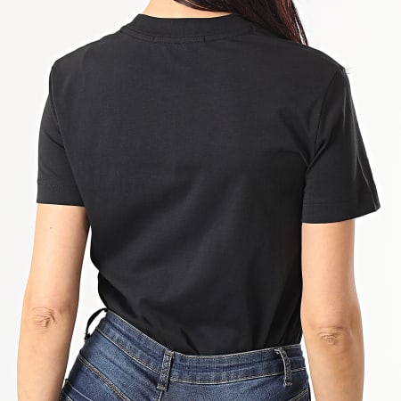 Calvin Klein Jeans - Tee Shirt Femme Satin Bonded Filled CK 5605 Noir