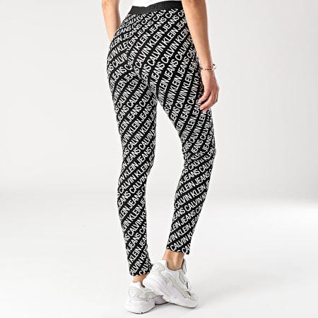 Calvin Klein Jeans - Legging Femme Milano AOP Logo 6097 Noir