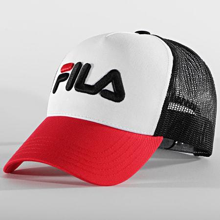 Fila - Casquette Trucker 686045 Noir Blanc Rouge