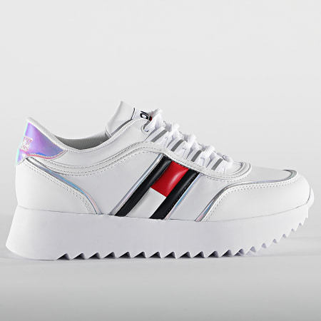 Tommy Jeans - Baskets Femme High Cleated Iridescent 1354 White