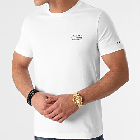 Tommy Jeans - Tee Shirt Chest Logo 0099 Blanc