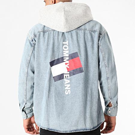 Tommy Jeans - Veste Jean Capuche 0714 Bleu Denim Gris Chiné