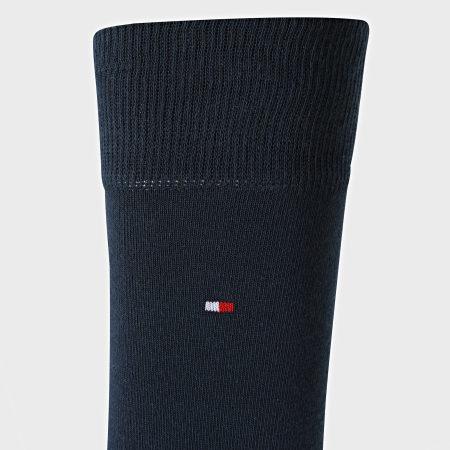 Tommy Hilfiger - Lot De 2 Paires De Chaussettes 371111 Gris Chiné Bleu Marine