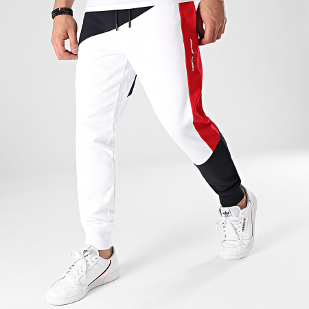 Tommy Hilfiger - Pantalon Jogging Blocked Terry 7277 Bleu Marine Blanc Rouge
