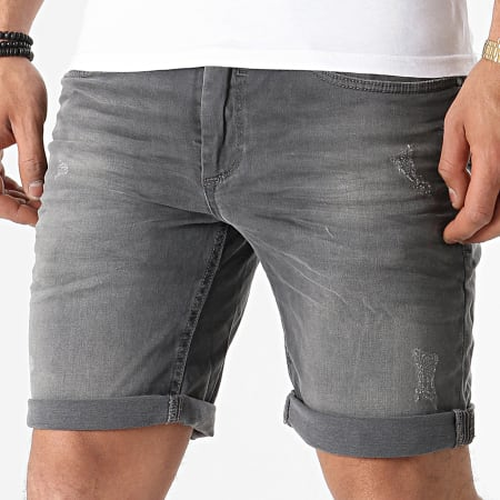 Blend - Short Jean 20711771 Gris
