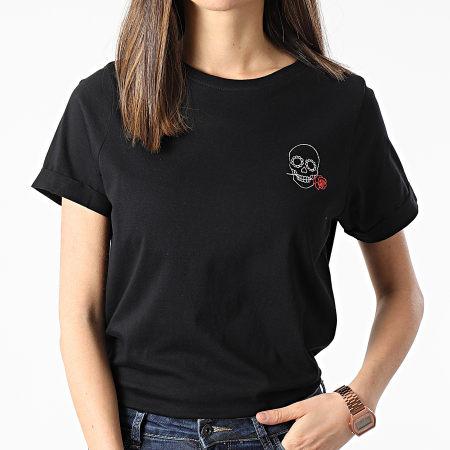 Deeluxe - Tee Shirt Femme Rose Noir