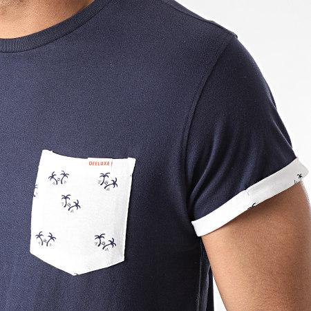 Deeluxe - Tee Shirt Poche Oasis Bleu Marine