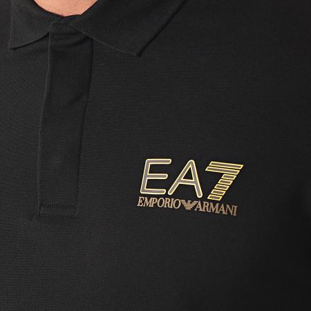 EA7 Emporio Armani - Polo Manches Courtes 3KPF36-PJ5AZ Noir Doré