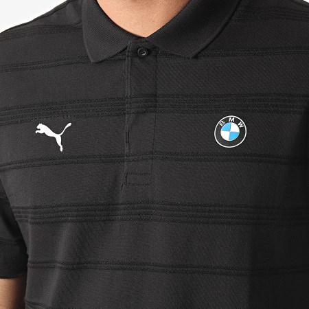 Puma - Polo Manches Courtes BMW MMS Striped 599524 Noir