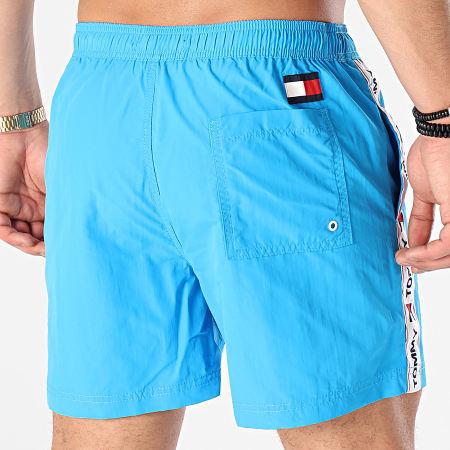 Tommy Jeans - Short De Bain A Bande Medium Drawstring 2042 Bleu Clair