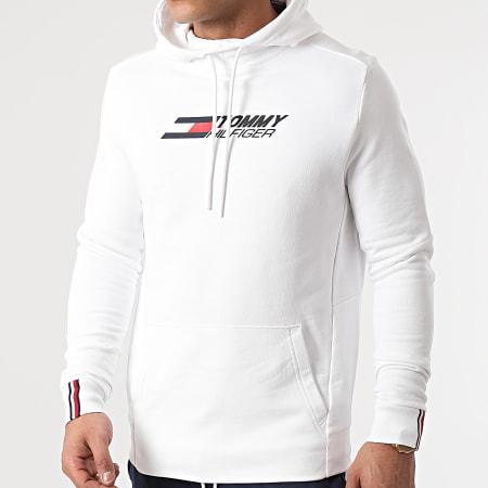 Tommy Sport - Sweat Capuche Terry Logo 8458 Blanc