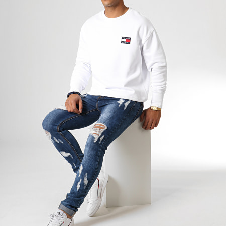 Tommy Jeans - Sweat Crewneck Tommy Badge 6592 Blanc