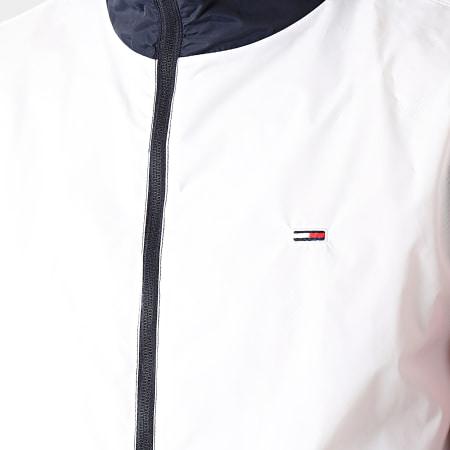 Tommy Jeans - Coupe-Vent Capuche Nylon Colorblock 0165 Bleu Marine Blanc Rouge
