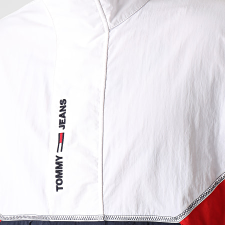 Tommy Jeans - Veste Col Zippée Lightweight Popover 0640 Bleu Marine Blanc Rouge
