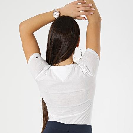 Tommy Jeans - Tee Shirt Skinny Femme Essential Logo 9926 Blanc