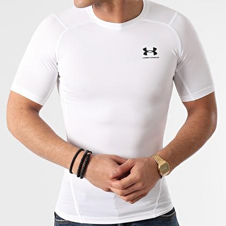 Under Armour - Tee Shirt Compression 1361518 Blanc