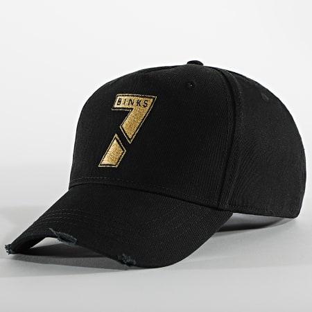 7 Binks - Casquette Logo Noir Doré