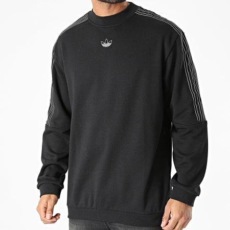 adidas - Sweat Crewneck A Bandes SPRT GN2442 Noir