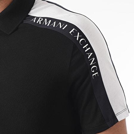 Armani Exchange - Polo Manches Courtes A Bandes 3KZFFW-ZJM5Z Noir