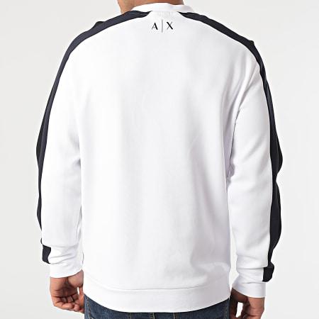 Armani Exchange - Sweat Crewneck A Bandes 3KZMFF-ZJ5GZ Blanc