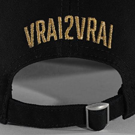 V2V - Casquette Logo Noir Doré