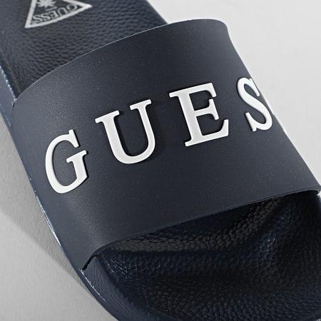 Guess - Claquettes F02Z03 Bleu Marine