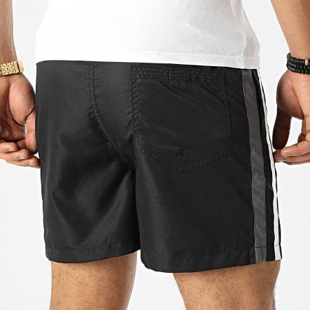 LBO - Short Jogging Diamanté Bandes 0053 Noir