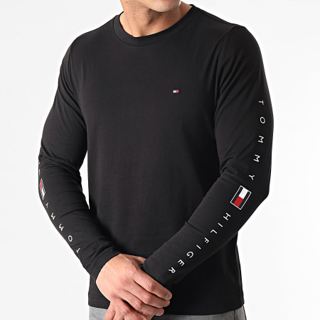 Tommy Hilfiger - Tee Shirt Manches Longues Essential Tommy 7677 Noir