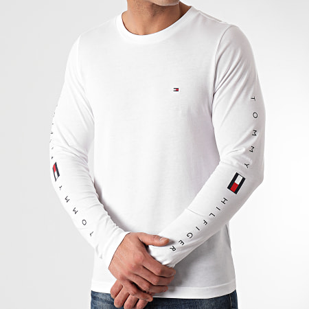 Tommy Hilfiger - Tee Shirt Manches Longues Essential Tommy 7677 Blanc