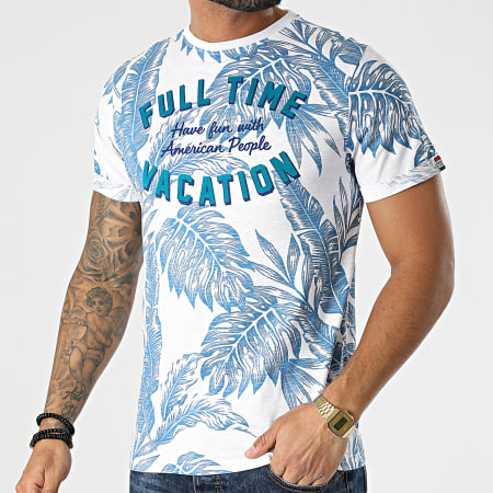 American People - Tee Shirt Tustin Blanc Floral