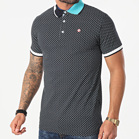 American People - Polo Manches Courtes Priam Bleu Marine