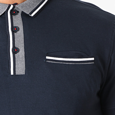 American People - Polo Manches Courtes Pao Bleu Marine