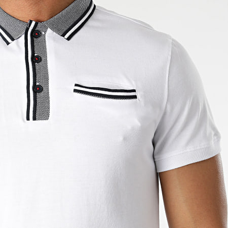 American People - Polo Manches Courtes Pao Blanc