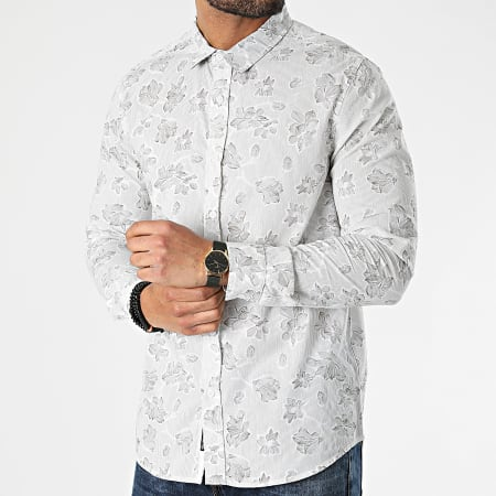 American People - Chemise Manches Longues Concorde Beige Floral
