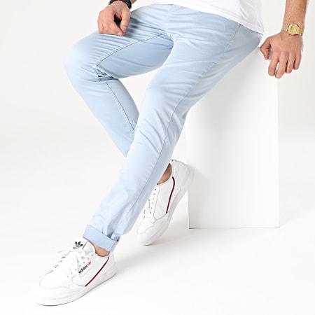 American People - Pantalon Chino Motor Bleu Ciel