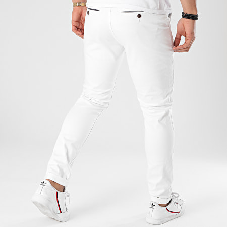 American People - Pantalon Chino Motor Blanc