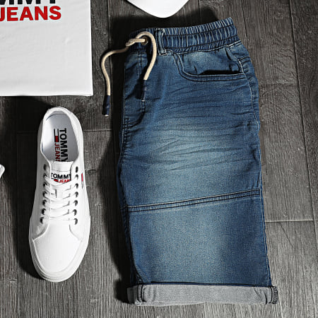 American People - Short JoggJean Soter Bleu Denim