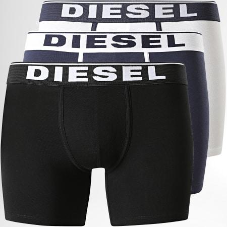 Diesel - Lot De 3 Boxers Sebastian 00SKME-0JKKC Noir Blanc Bleu Marine