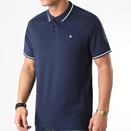 Jack And Jones - Polo Manches Courtes Jersey 12180891 Bleu Marine