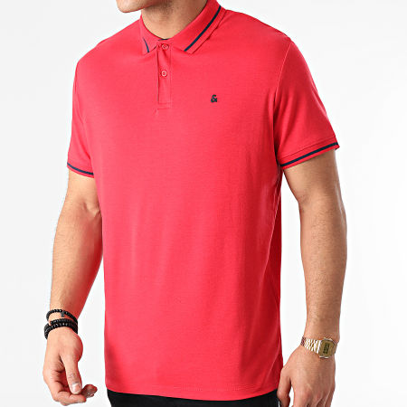 Jack And Jones - Polo Manches Courtes Jersey 12180891 Rouge